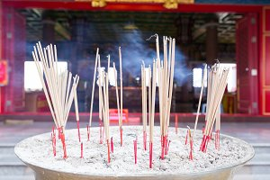 Incense incense in incense pot