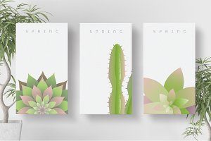 Spring business card templates