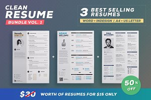 Clean Resume - Bundle Edition Vol.1