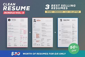 Clean Resume/Cv - Bundle Volume 3