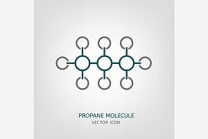 Propane Molecule Icon