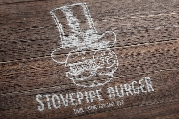 Stove Pipe Burger in Logo Templates - product preview 3