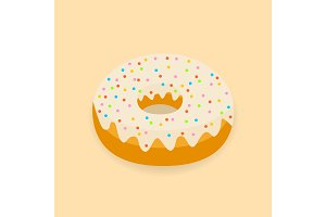 Sweet donut food with topping