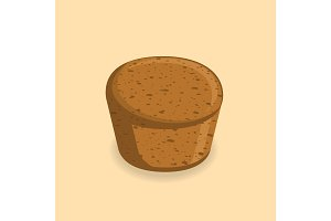Vector illustration of brown bread