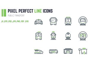 Public transport line icons