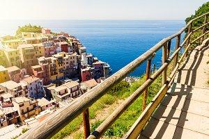 Manarola town view in Cinque Terre