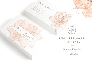 Nacre Fashion Business Card Template
