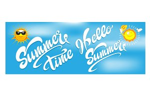 Summer hand lettering design