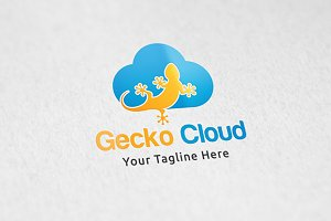 Gecko Cloud - Logo Template
