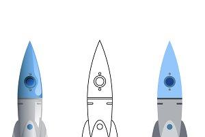 Rocket Symbol 3d
