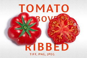 Ribbed tomato above