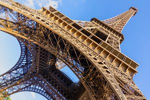 Paris, Eiffel tower wide view