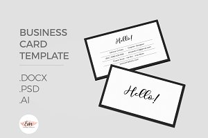 Swish Business card Template