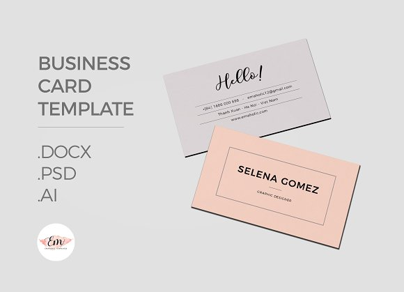 Girly Business Card Template Business Card Templates Creative - Ai business card template