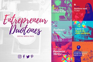 Entrepreneur Duotones Social Media