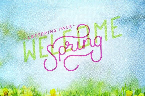 Spring Lettering Pack