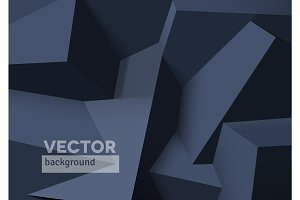 Abstract background with overlapping black cubes