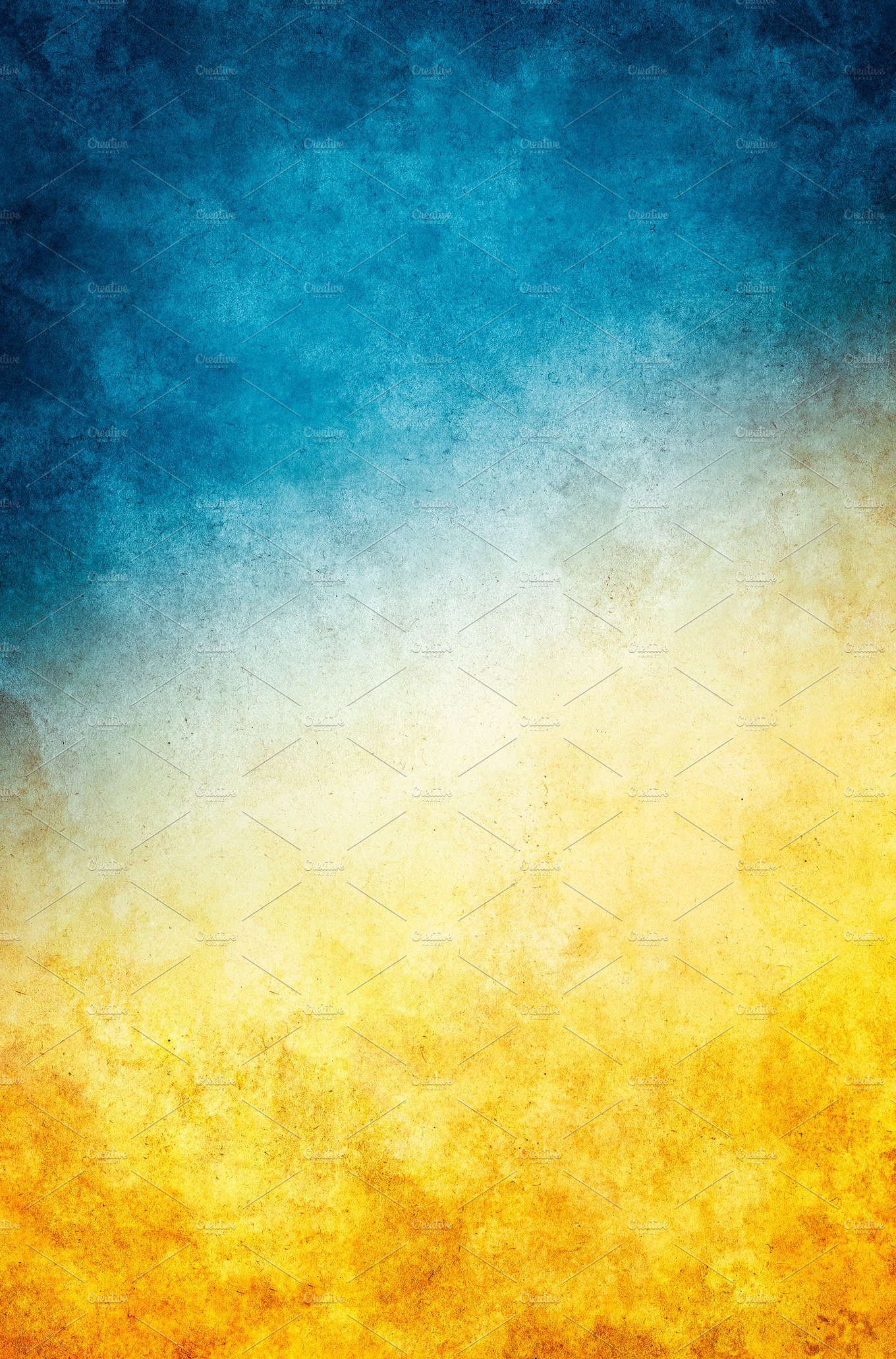 Blue And Yellow Bathroom Decor: Yellow Blue Grunge Background
