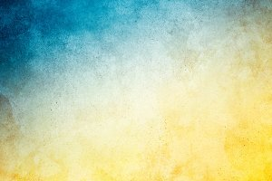 Yellow Blue Grunge Background