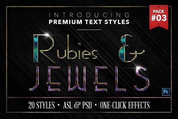 Rubies Jewels #3 20 Text Styles