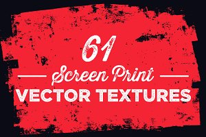 61 Screen Print Vector Textures