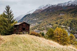 Grunge wooden house