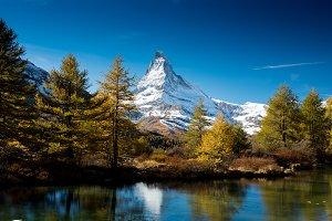 Matterhorn from lake Grindjisee