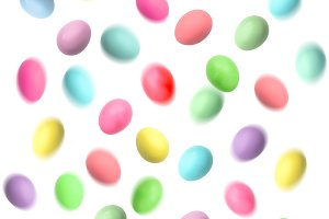 Flying Easter eggs decoration