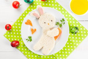 Bunny-sandwich for Easter