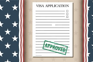 Visa Application Banner Template
