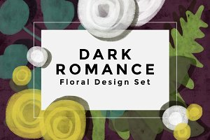 Dark Romance Floral Set