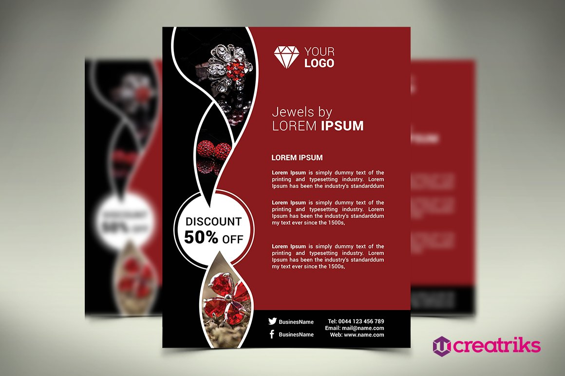 Jewelry Flyer Photos Graphics Fonts Themes Templates Creative
