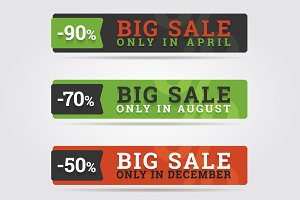 Big sale banners.
