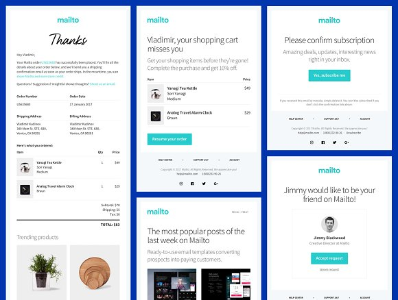 Email Templates Huge Bundle Email Templates Creative Market - Transactional email templates