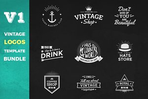 Vintage Logos Template Bundle V1