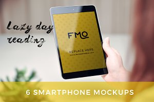 Lazy day reading: 6 Tablet Mockups