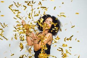 Woman celebrating a party