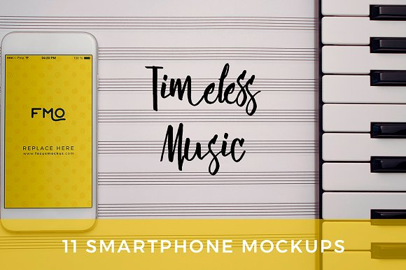 Timeless Music 11 Smartphone Mockups