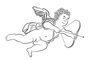 Cherub firing an arrow
