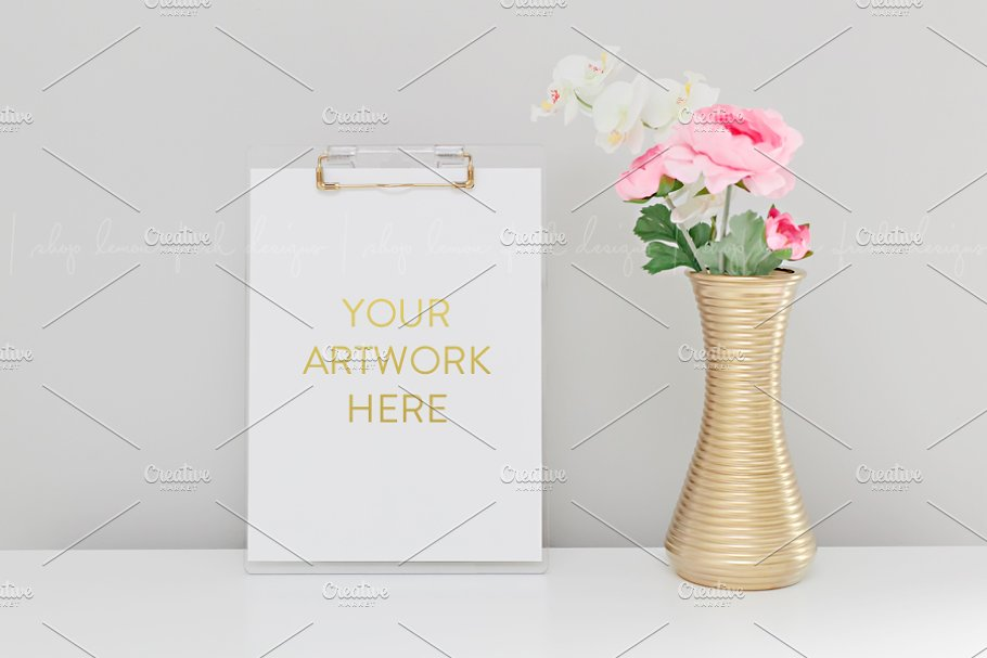 Styled Clipboard Florals Stock Image in Product Mockups - product preview 8