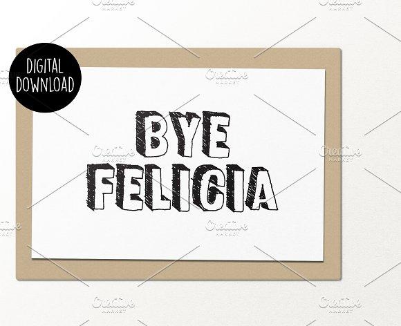 Bye Felicia printable greeting card Card Templates on Creative – Printable Greeting Card Templates