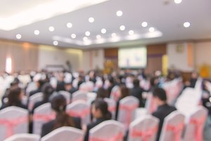 Blur of business Conference in hall