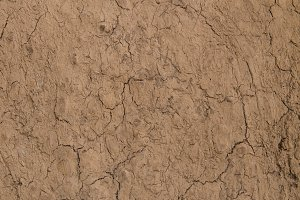 texture of red dry soil