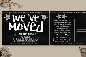 Moving Announcements Card Template