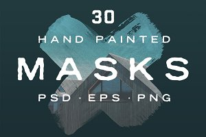 30 Hand Painted Masks