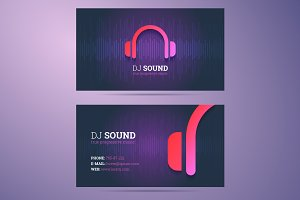Dj Business Card Photos Graphics Fonts Themes Templates