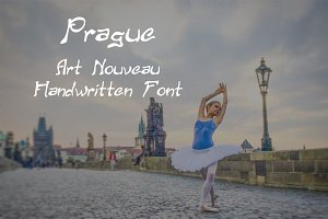 Prague: Handwritten Art Nouveau Font