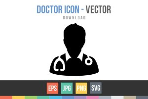 Doctor Icon, Physician Avatar Vector