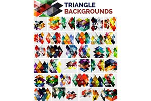 Mega collection of triangle backgrounds