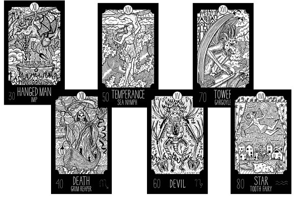 Fantasy Tarot cards